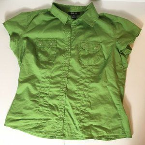 Women's Size 10 Style & Co Lime Green SS Blouse